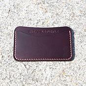 Сумки и аксессуары handmade. Livemaster - original item The image card holder leather Horween burgundy. Handmade.