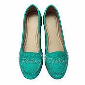 Обувь ручной работы handmade. Livemaster - original item Women`s moccasins from Python COZY. Handmade.