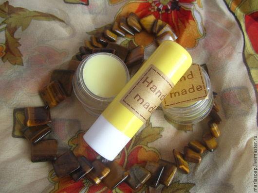 Бальзам для губ ручной работы. Ярмарка Мастеров - ручная работа. Купить Бальзам для губ медовый. Handmade. Желтый, мед