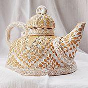 """Посуда ручной работы. Ярмарка Мастеров - ручная работа Керамический чайник """"Чаепитие в стиле бохо"""". Handmade."""