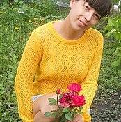 """Одежда ручной работы. Ярмарка Мастеров - ручная работа свитер """"Солнечный"""". Handmade."""
