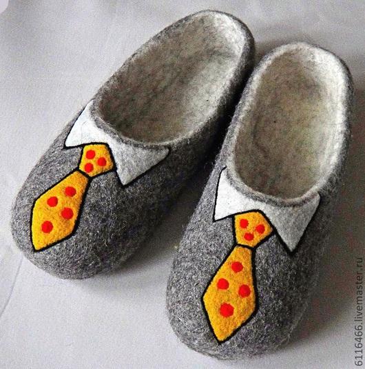 """Обувь ручной работы. Ярмарка Мастеров - ручная работа. Купить домашние валяные тапочки из натуральной шерсти """" Офисные"""". Handmade."""