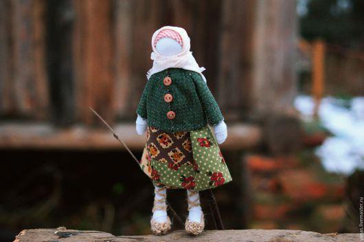 Народные куклы ручной работы. Ярмарка Мастеров - ручная работа. Купить Кукла в лапоточках. Handmade. Комбинированный, традиция, американский хлопок