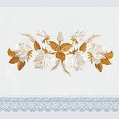 """Рушники ручной работы. Ярмарка Мастеров - ручная работа Рушник """"Роза золотая"""" из 100% льна. Handmade."""