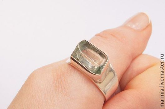 Кольца ручной работы. Ярмарка Мастеров - ручная работа. Купить кольцо Байкальский лед. Аквамарин 2.0. Handmade. Голубой