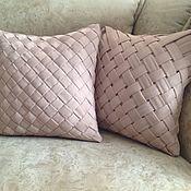 Для дома и интерьера ручной работы. Ярмарка Мастеров - ручная работа Подушки с плетением. Handmade.