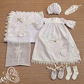 Работы для детей, ручной работы. Ярмарка Мастеров - ручная работа Набор для крещения  девочек именной -белый. Handmade.