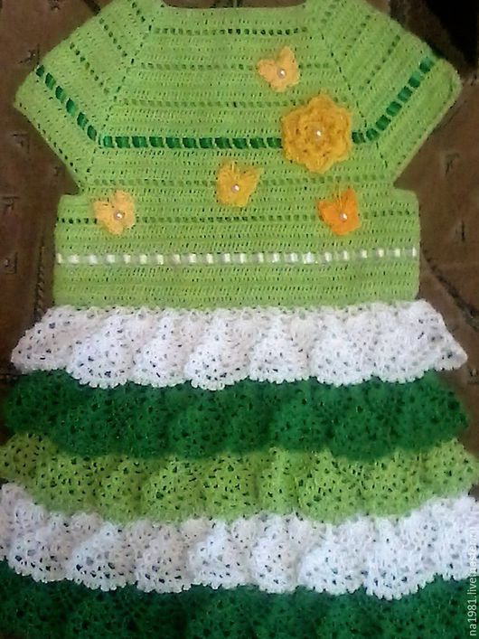 Платья ручной работы. Ярмарка Мастеров - ручная работа. Купить весна. Handmade. В горошек, белый цвет, зеленый цвет