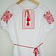Women's embroidered shirt short sleeve. Ornament
