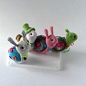 Куклы и игрушки ручной работы. Ярмарка Мастеров - ручная работа улитки вязаные. Handmade.
