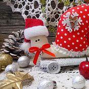 Подарки к праздникам ручной работы. Ярмарка Мастеров - ручная работа Новогодняя улитка тильда. Handmade.