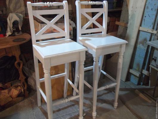 Мебель ручной работы. Ярмарка Мастеров - ручная работа. Купить стул барный в стиле - прованс,кантри.. Handmade. Белый