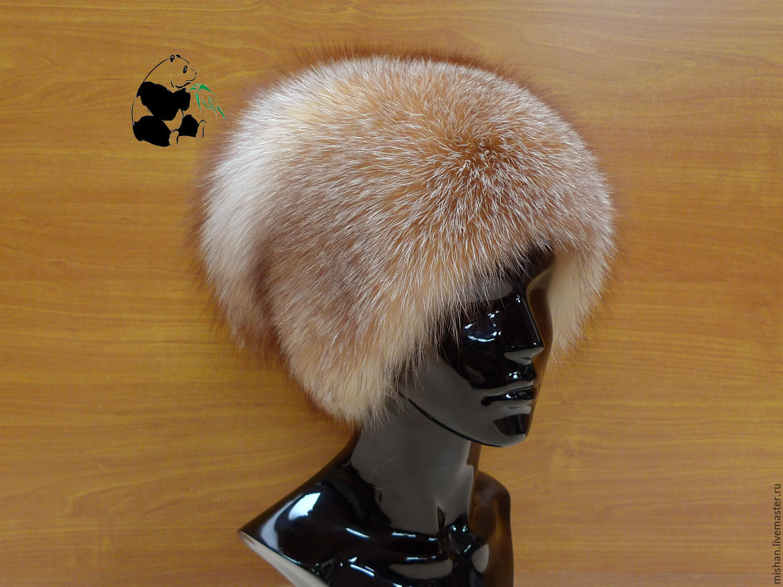 fur hat women's knitted lining fox fur moth df-4, Caps, Ekaterinburg,  Фото №1