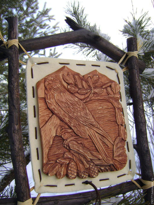 """Животные ручной работы. Ярмарка Мастеров - ручная работа. Купить Панно """" Вольная птица"""". Handmade. Панно, резьба по дереву"""