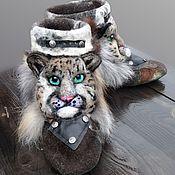 """Обувь ручной работы. Ярмарка Мастеров - ручная работа Валенки мужские домашние """"Барсики"""". Handmade."""