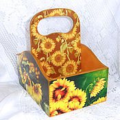 Для дома и интерьера handmade. Livemaster - original item Box for spices Solar sunflower. Handmade.