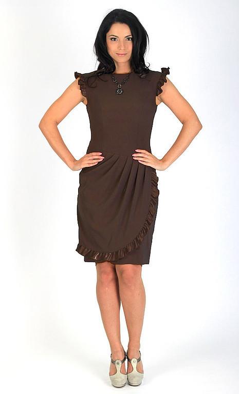 Платья ручной работы. Ярмарка Мастеров - ручная работа. Купить Платье с драпировкой - цвет шоколадный коричневый. Handmade. Платье коктейльное
