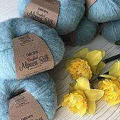 Пряжа ручной работы. Ярмарка Мастеров - ручная работа Drops Brushed Alpaca Silk. Handmade.