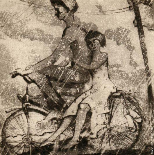"""Люди, ручной работы. Ярмарка Мастеров - ручная работа. Купить """"Алеша и Женя"""". Handmade. Черный, гравюра, эстамп, графика, влюбленные"""