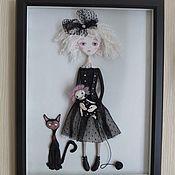 Картины и панно ручной работы. Ярмарка Мастеров - ручная работа Девочка Гот. Handmade.