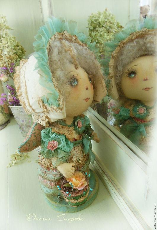 Коллекционные куклы ручной работы. Ярмарка Мастеров - ручная работа. Купить Бирюзовое платье. Handmade. Бирюзовый, девочка ангел