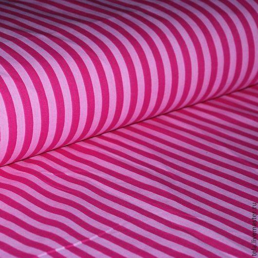 Ярко-розовая полоска. Хлопок 100%. Ткань для шитья, рукоделия.  Есть в наличии.