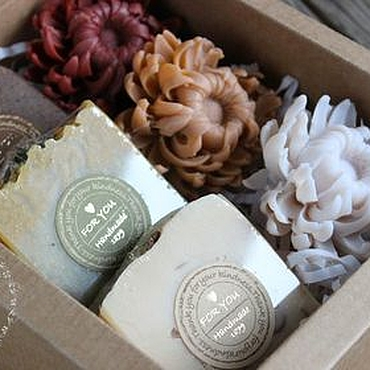 """Косметика ручной работы. Ярмарка Мастеров - ручная работа """"ОЧАРОВАНИЕ"""" подарочный набор мыла. Handmade."""