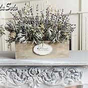 Цветы и флористика ручной работы. Ярмарка Мастеров - ручная работа интерьерная цветочная композиция лаванда. Handmade.