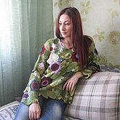 "Одежда ручной работы. Ярмарка Мастеров - ручная работа Свитер ""Зимние сны о лете"". Handmade."