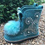 Обувь ручной работы handmade. Livemaster - original item Felt boots. Handmade.