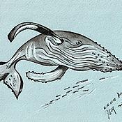 Картины и панно handmade. Livemaster - original item Humpback whale. Handmade.