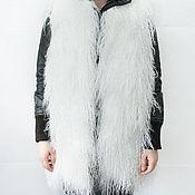 Одежда ручной работы. Ярмарка Мастеров - ручная работа Удлиненный жилет из меха ламы. Handmade.