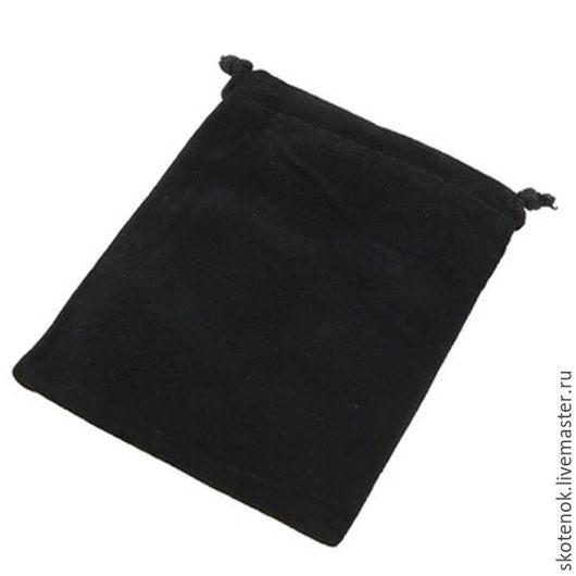 """Упаковка ручной работы. Ярмарка Мастеров - ручная работа. Купить 703001 Мешочек бархатный 11,5х9,5см """"черный"""". Handmade."""