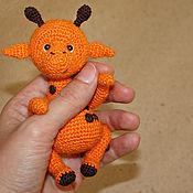 Куклы и игрушки ручной работы. Ярмарка Мастеров - ручная работа Вязаный жираф Август. Handmade.