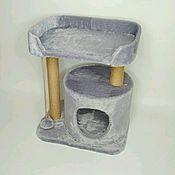 Когтеточки ручной работы. Ярмарка Мастеров - ручная работа Домик для кошки когтеточка лежанка джут Веревка. Handmade.