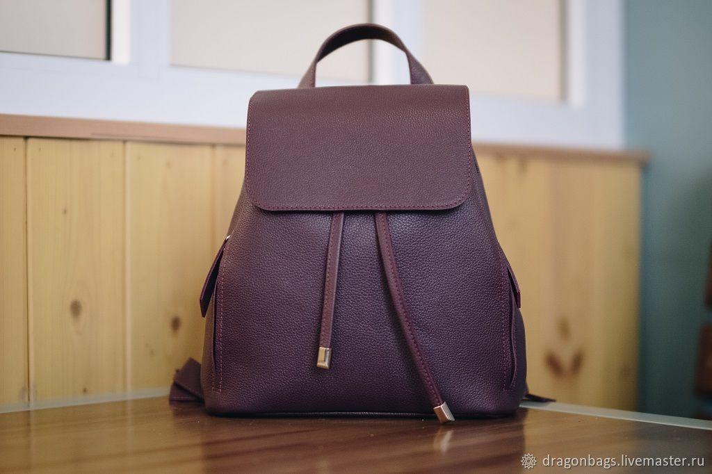 Backpack leather female 'Alter Ego' (Burgundy), Backpacks, Yaroslavl,  Фото №1