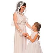Одежда ручной работы. Ярмарка Мастеров - ручная работа Платья для мамы и дочки Невеста, комплект. Handmade.