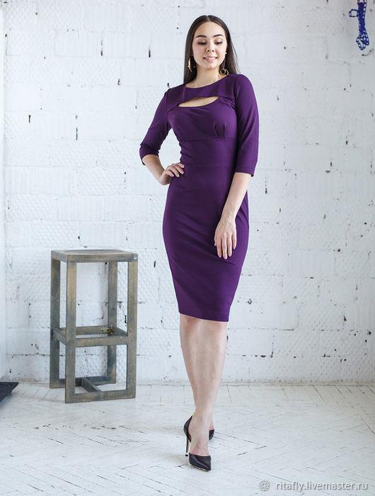 354: платье футляр из джерси с вырезом, Платья, Москва, Фото №1