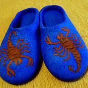 Обувь ручной работы. Ярмарка Мастеров - ручная работа войлочные шлёпанцы Скорпионы. Handmade.