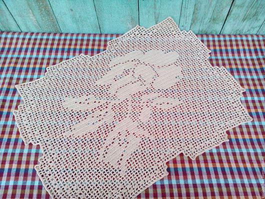 Текстиль, ковры ручной работы. Ярмарка Мастеров - ручная работа. Купить Салфетка декоративная. Handmade. Салфетка крючком, Вязание крючком