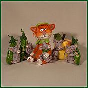 Куклы и игрушки ручной работы. Ярмарка Мастеров - ручная работа Мышки и Кот. Handmade.