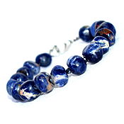 Украшения handmade. Livemaster - original item Bracelet made of natural sodalite. Handmade.