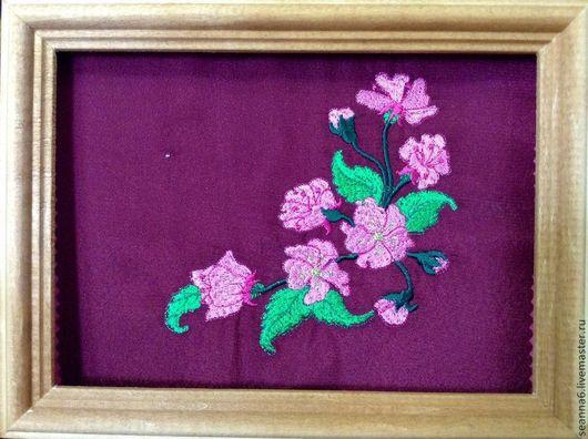 """Детская ручной работы. Ярмарка Мастеров - ручная работа. Купить Картинка вышитая интерьерная """"Нежные цветы"""" разных размерах и цветах. Handmade."""