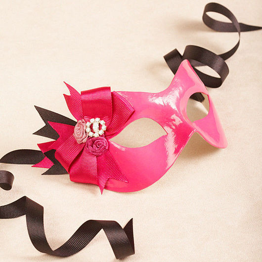 """Карнавальные костюмы ручной работы. Ярмарка Мастеров - ручная работа. Купить Карнавальная маска """"Кассиа"""" Розовый/Черный. Handmade. Карнавальная маска"""