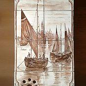 Картины и панно ручной работы. Ярмарка Мастеров - ручная работа Керамическое панно с венецианскими пейзажем. Handmade.