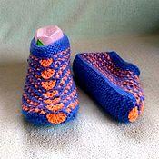 Тапочки ручной работы. Ярмарка Мастеров - ручная работа Тапочки женские вязоные. Handmade.