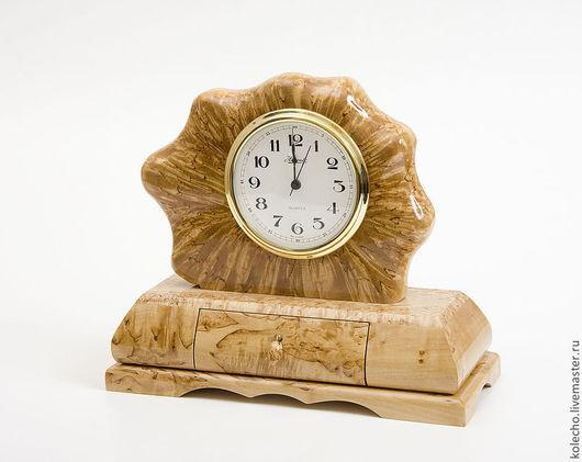 """Часы для дома ручной работы. Ярмарка Мастеров - ручная работа. Купить Часы настольные """"Ракушка"""" большие. Handmade. Бежевый, часы"""
