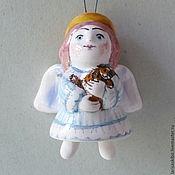 Сувениры и подарки ручной работы. Ярмарка Мастеров - ручная работа колокольчик Ангел с игрушкой. Handmade.