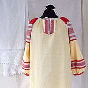 """Одежда ручной работы. Ярмарка Мастеров - ручная работа Женская длинная рубаха отделкой """"Макошь"""". Handmade."""