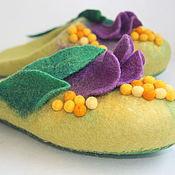 """Обувь ручной работы. Ярмарка Мастеров - ручная работа Тапочки-шлепки """"Тюльпанчики"""".. Handmade."""